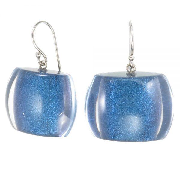 Earring BELLISSIMA 1beads shorthook, winter blue